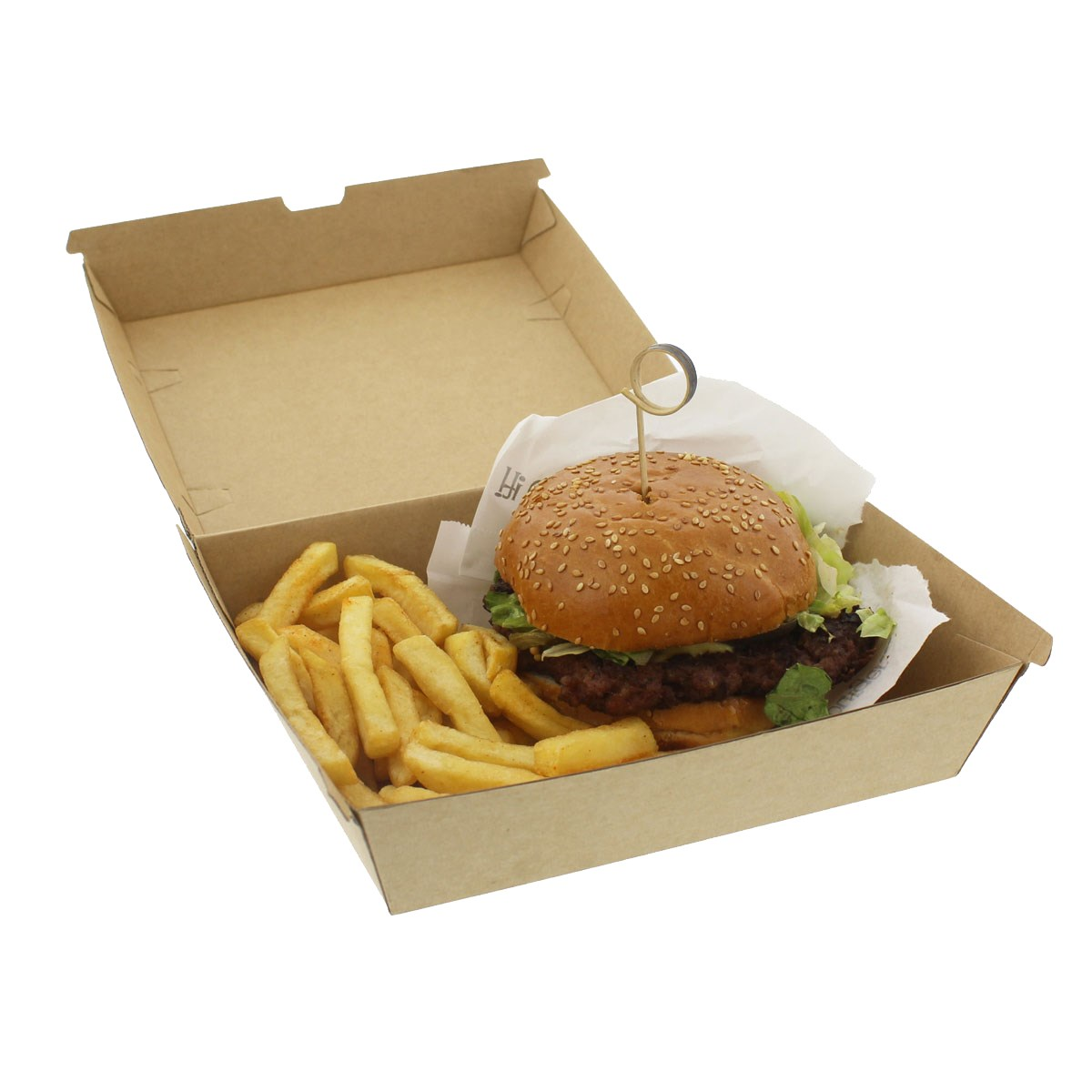 Ex-Large Kraft Compostable Dinner Box 7