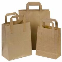 Medium Brown Takeaway Bags 8.5