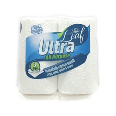 Ultra 3 PLY Kitchen Paper Rolls - 2 Rolls Per Pack